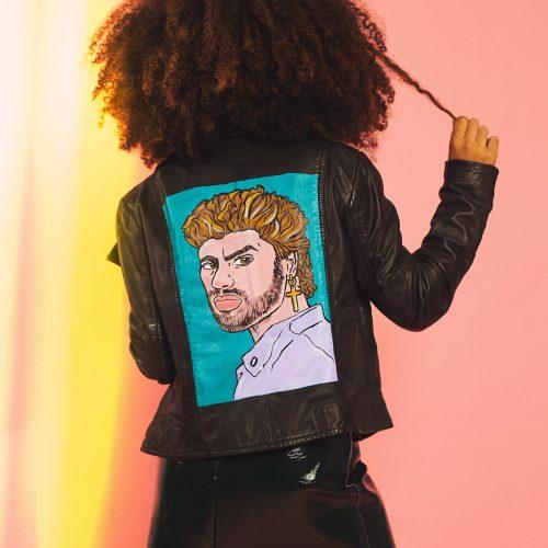 Handpainted Leather Jacket George Michael