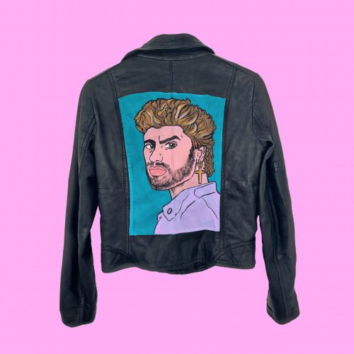Handpainted Leather Jacket George Michael