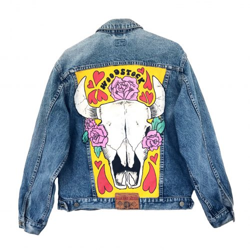 Handpainted Denim Jacket Woodstock