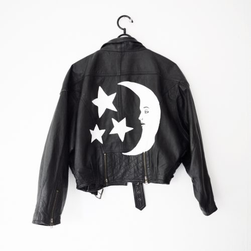 Leather Jacket Moon and Stars