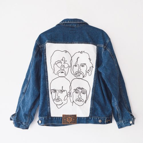 Handpainted Denim Jacket Beatles