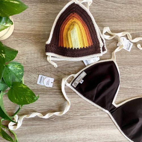 Handmade Crochet Top Rainbow 🌈
