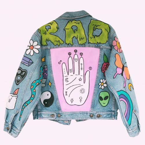 Handpainted Denim Jacket Witchcraft