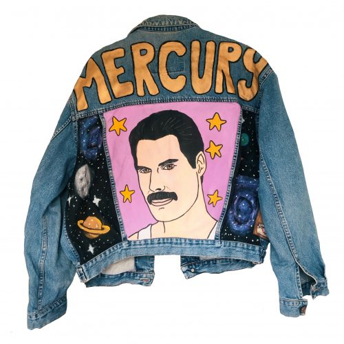 Handpainted Denim Jacket MERCURY