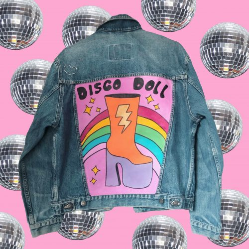 Denim Jacket Disco Doll