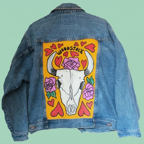 Handpainted Denim Jacket Summer of Love