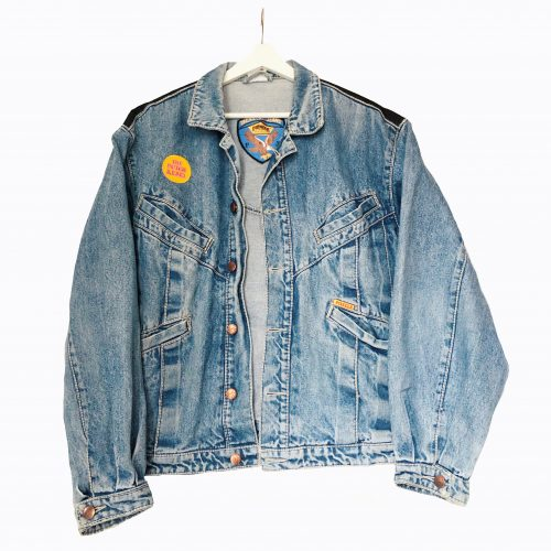 Handpainted Denim Jacket American Sunset