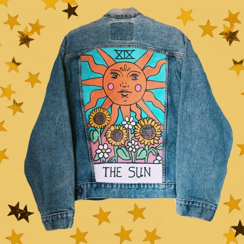 Denim Jacket Tarot Card of the Sun