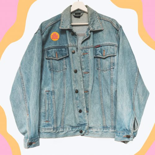 Denim Jacket Tarot Card of the Moon