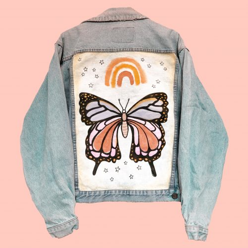 Denim Jacket Papillon Rebelle