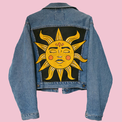 Denim Jacket Here Comes The Sun