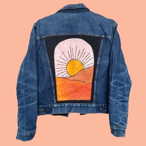Denim Jacket Texas Sun